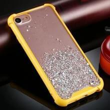 Voor iPhone 6 / 6s Four-Corner Shockproof Glitter Powder Acryl + TPU Beschermhoes (Geel)
