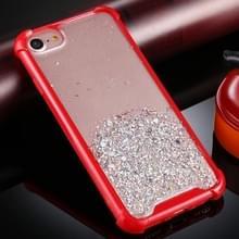 Voor iPhone 6 / 6s Four-Corner Shockproof Glitter Powder Acryl + TPU Beschermhoes(Rood)