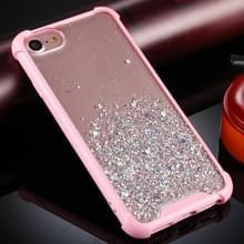 Voor iPhone 6 / 6s Four-Corner Shockproof Glitter Powder Acryl + TPU Beschermhoes (Roze)