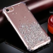 Voor iPhone SE 2020 / 8 / 7 Four-Corner Shockproof Glitter Powder Acryl + TPU Beschermhoes (Transparant)