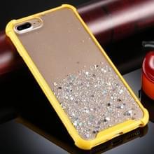 Voor iPhone 8 Plus / 7 Plus Schokbestendige GlitterPoeder Acryl + TPU Beschermhoes(Geel)