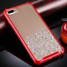 Voor iPhone 8 Plus / 7 Plus Schokbestendige Glitter Poeder Acryl + TPU Beschermhoes(Rood)