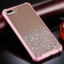 Voor iPhone 8 Plus / 7 Plus Schokbestendige Glitter Poeder Acryl + TPU Beschermhoes(Roze)