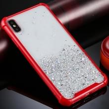 Voor iPhone XS / X Four-Corner Shockproof Glitter Powder Acryl + TPU Beschermhoes(Rood)