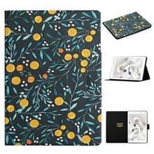 Voor Samsung Galaxy Tab A 8.0 2019 Bloempatroon Horizontale Flip Lederen behuizing met kaartslots & houder (geel fruit)
