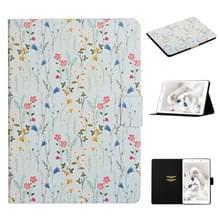 Voor Samsung Galaxy Tab A 8.0 2019 Bloempatroon Horizontaal Flip Lederen kast met kaartslots & houder(Small Floral)