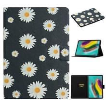 Voor Samsung Galaxy Tab S5e T720 Bloempatroon Horizontaal Flip Lederen hoesje met kaartslots & houder (kleine madeliefjes)