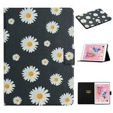 Voor iPad 5 Bloem patroon horizontale flip lederen behuizing met kaartslots & houder (kleine madeliefjes)
