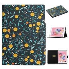 Voor iPad 5 Bloem patroon horizontale flip lederen behuizing met kaartslots & houder (geel fruit)