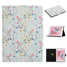 Voor iPad 10.2 bloempatroon horizontale flip lederen behuizing met kaartslots & houder(kleine bloemen)