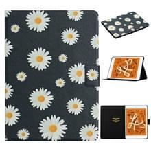 Voor iPad Mini 2019 Bloempatroon Horizontaal Flip Lederen hoesje met kaartslots & houder (kleine madeliefjes)