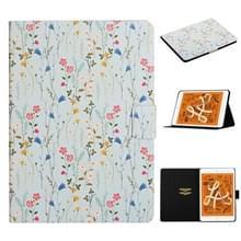 Voor iPad Mini 4 & 3 & 2 & 1 Bloempatroon Horizontaal Flip Lederen kast met kaartslots & houder(Small Floral)