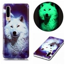 Voor Huawei P30 Luminous TPU Soft Protective Case (Starry Sky Wolf)