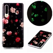 Voor Huawei P30 Lichtgevende TPU Soft Protective Case(Rose)
