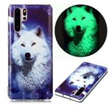Voor Huawei P30 Pro Lichtgevende TPU Soft Protective Case (Starry Sky Wolf)