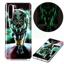 Voor Huawei P30 Pro Lichtgevende TPU Soft Protective Case (Woeste Wolf)
