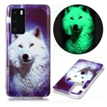 Voor Huawei P40 Lichtgevende TPU Soft Protective Case (Starry Sky Wolf)