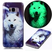 Voor Samsung Galaxy S8 Luminous TPU Soft Protective Case (Starry Sky Wolf)