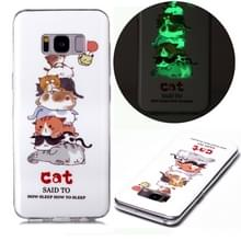 Voor Samsung Galaxy S8+ Lichtgevende TPU Soft Protective Case(Cats)