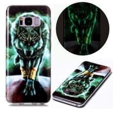 Voor Samsung Galaxy S8+ Lichtgevende TPU Soft Protective Case (Woeste Wolf)