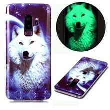 Voor Samsung Galaxy S9+ Lichtgevende TPU Soft Beschermhoes (Starry Sky Wolf)