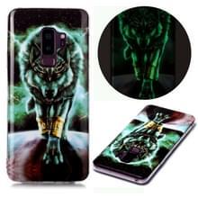 Voor Samsung Galaxy S9+ Lichtgevende TPU Soft Protective Case (Woeste Wolf)