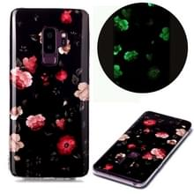 Voor Samsung Galaxy S9+ Lichtgevende TPU Soft Beschermhoes(Rose)