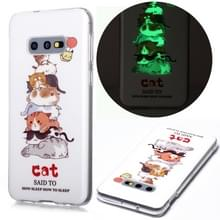 Voor Samsung Galaxy S10e Lichtgevende TPU Soft Protective Case(Cats)
