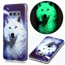 Voor Samsung Galaxy S10e Lichtgevende TPU Soft Protective Case (Starry Sky Wolf)
