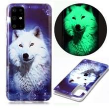 Voor Samsung Galaxy S20+ Lichtgevende TPU Soft Beschermhoes (Starry Sky Wolf)