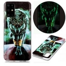 Voor Samsung Galaxy S20+ Lichtgevende TPU Soft Protective Case (Woeste Wolf)