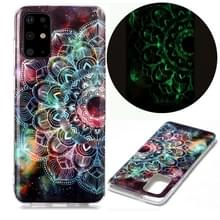 Voor Samsung Galaxy S20+ Lichtgevende TPU Soft Beschermhoes (Mandala Flower)