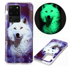 Voor Samsung Galaxy S20 Ultra Luminous TPU Soft Protective Case (Starry Sky Wolf)