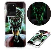 Voor Samsung Galaxy S20 Ultra Luminous TPU Soft Protective Case (Woeste Wolf)
