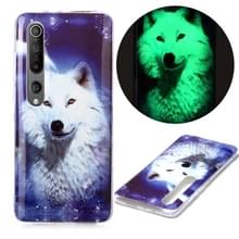 Voor Xiaomi Mi 10 5G Lichtgevende TPU Soft Protective Case (Starry Sky Wolf)