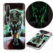 Voor Xiaomi Mi 10 5G Lichtgevende TPU Soft Protective Case (Woeste Wolf)