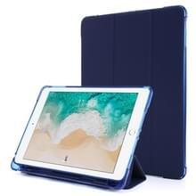 Voor iPad 9.7 (2018) & (2017) Airbag Horizontale Flip Lederen Kast met drievoudige houder & penhouder(Donkerblauw)