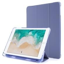 Voor iPad 9.7 (2018) & (2017) Airbag Horizontale Flip Lederen Kast met drievoudige houder & penhouder(Paars)
