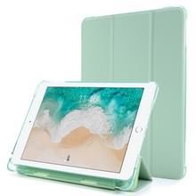 Voor iPad Air 2 Airbag Horizontale Flip Lederen Behuizing met drievoudige houder & penhouder (Mintgroen)