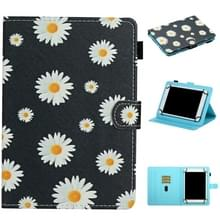 Voor 8 inch Universal Tablet PC Flower Pattern Horizontale Flip Lederen Case met Kaart Slots & Holder (Small Daisies)