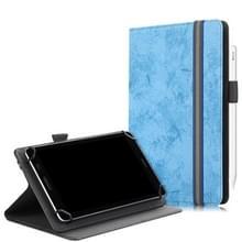 Voor 7-8 inch marmeren doek textuur horizontale flip universele tablet pc lederen kast met penslot & houder (Sky Blue)
