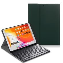 Voor iPad Air (2019) Elektrisch geperst horizontaal flip lederen kast met Pen Slot & Houder & Keyboard(Donkergroen)