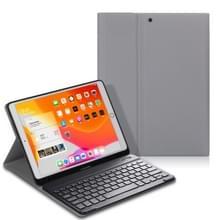 Voor iPad Air (2019) Elektrisch geperst horizontaal flip lederen kast met penslot & houder & toetsenbord(Grijs)
