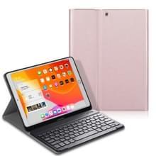 Voor iPad Air (2019) Elektrisch geperst horizontaal flip lederen kast met Pen Slot & Houder & Keyboard(Rose Gold)
