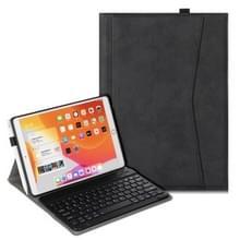Voor iPad Air (2019) Marble Cloth Texture Horizontale Flip Lederen Case met Pen Slot & Houder & Keyboard(Zwart)