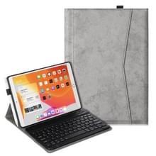 Voor iPad Air (2019) Marble Cloth Texture Horizontale Flip Lederen case met Pen Slot & Houder & Keyboard(Grijs)