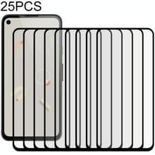 Voor Google Pixel 4a 25 PCS Full Glue Full Screen Tempered Glass Film (Zwart)