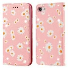 Voor iPhone SE 2020 / 8 / 7 Glinsterende Daisy Magnetic Horizontal Flip Leather Case met Holder & Card Slots & Photo Frame(Pink)