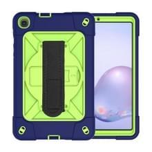 Voor Samsung Galaxy Tab A8.4 (2020) T307 Contrast Color Robot Shockproof Silicon + PC Beschermhoes met Holder & Pen Slot (Navy Olivine)