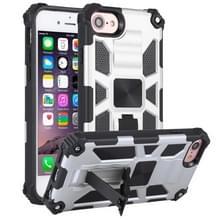 Voor iPhone 6 Schokbestendige TPU + PC Magnetische beschermhoes met houder(zilver)